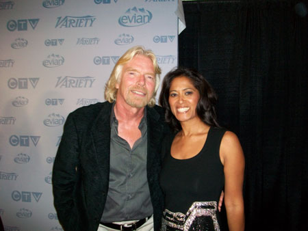 VIRGIN CEO Richard Branson and Lorraine Zander in Toronto