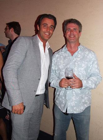 Ben Mulroney with veteran Canadian actor Peter Flynn