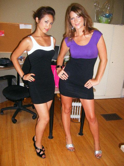 Karmen Cheng and Sarah McKay at the Faze office