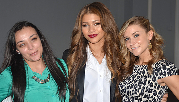 Zendaya with Faze editors Dana Krook and Jessica Harwood