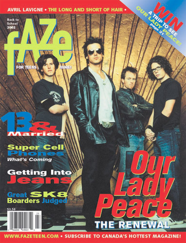 Our Lady Peace Faze Magazine Cover