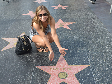 Dana in Los Angeles with the Stars