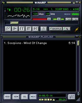 WinAmp Music Player - Napster enabler