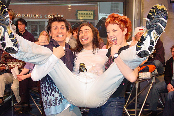 Rick Campanelli and Jennifer Hollett and Dave Grohl