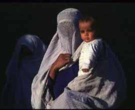 Afgan women in Afghanistan - burqas