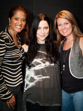 Editor Lorraine with Amy Lee and writer Christal Earle