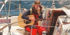 Jesse Martin sailing Lionheart