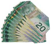Canadian Money bills