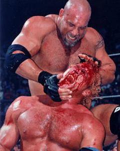 Wrestling is bloody fun