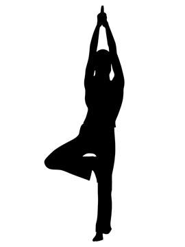 yoga pose silhouette
