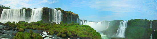 Iguazu Falls Argentina Panorama