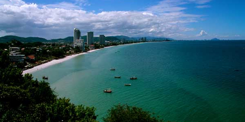 The Beach and landscape of Hua Hin.