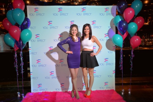Kelly Lovell and me on the pink carpet the #YOUeffect launch.