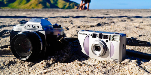 cameras on the beach