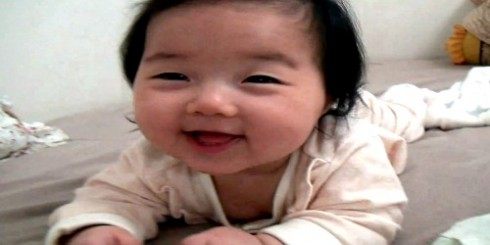 Cute Asian Baby Falling Asleep