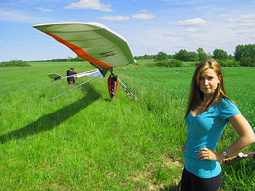 You want me to do what?!?! Hang Gliding. Lucky Dana Krook