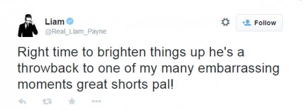 Liam Payne tweet