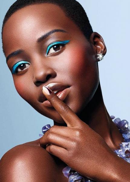 Lupita Nyong'o Bright Makeup
