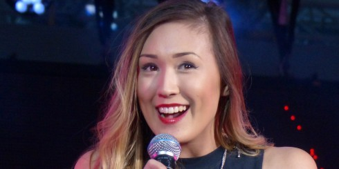 LaurDIY on stage at Fan Fest