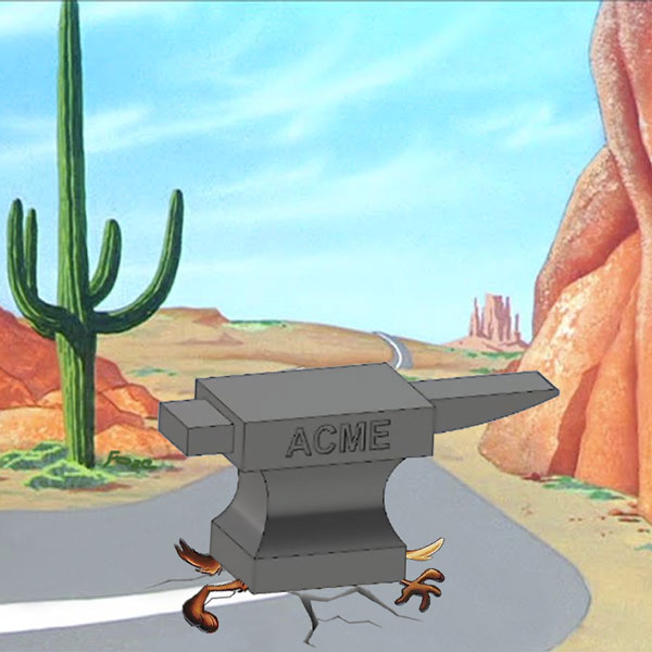 Wile E Coyote Anvil