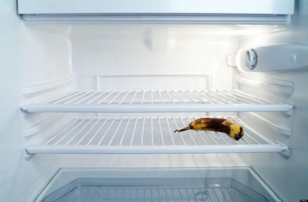 almost empty fridge
