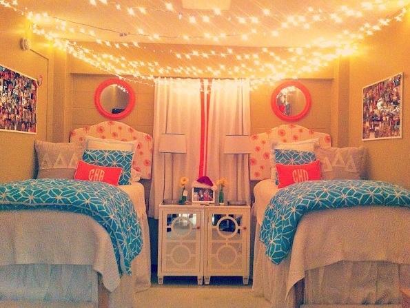 Symmetrical two person dorm room.