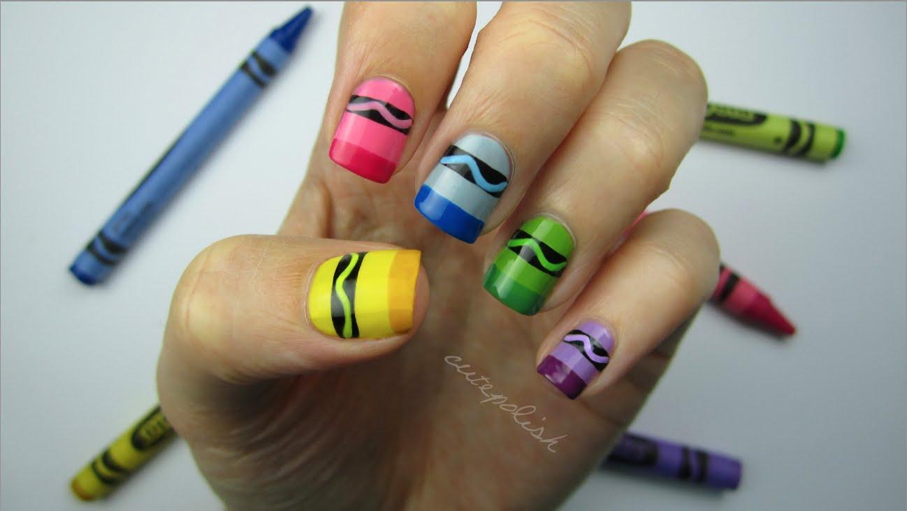 crayon-nail-art
