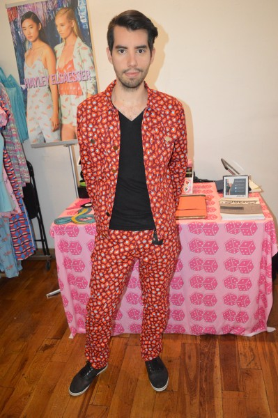 PR agent Shaun Marq, in his favourite Hayley Elsaesser ensemble.