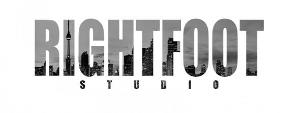 RIGHTFOOT STUDIO TORONTO SKYLINE WHITE&BLACK