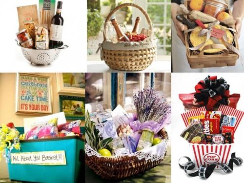 Several gift baskets.