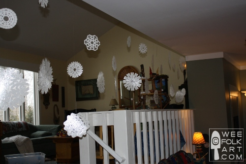 Snowflakes decor inside.