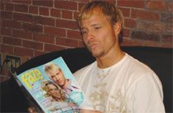 Brian Littrell reads Faze Magazine