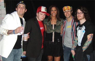 Lorraine Zander with Fall Out Boy