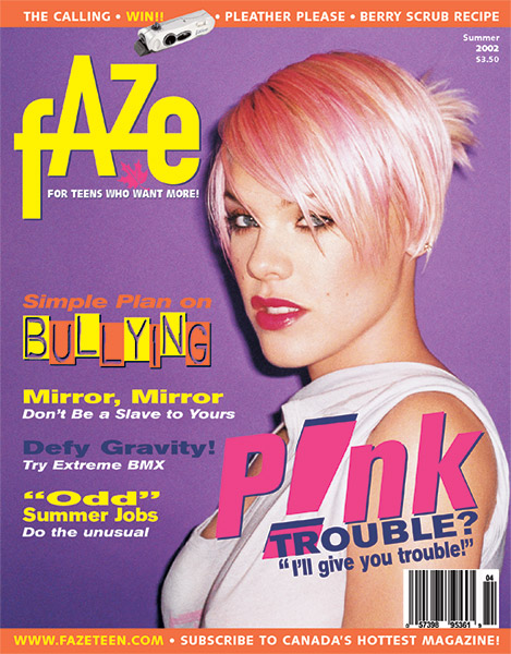 Pink P!NK on Cover of Faze Magazine