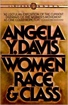 The book cover for Women, Race and Class, written by Angela Y. Davis.