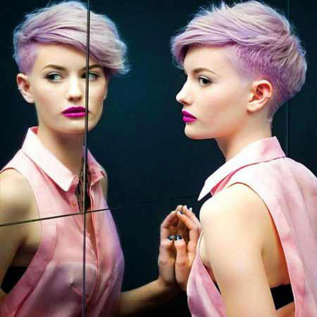 Pink Hair in Mirror