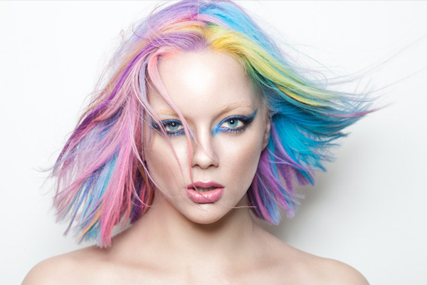 Colorful hair dye