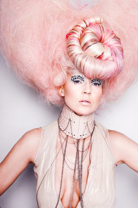 Art Pink Hair Avant Garde Hairstyle