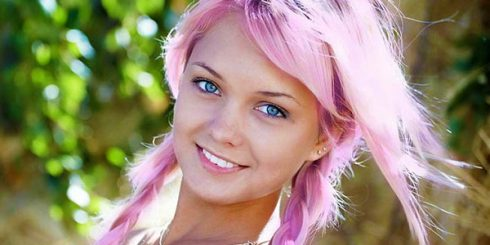 Pink Dye Hair Pretty Girl