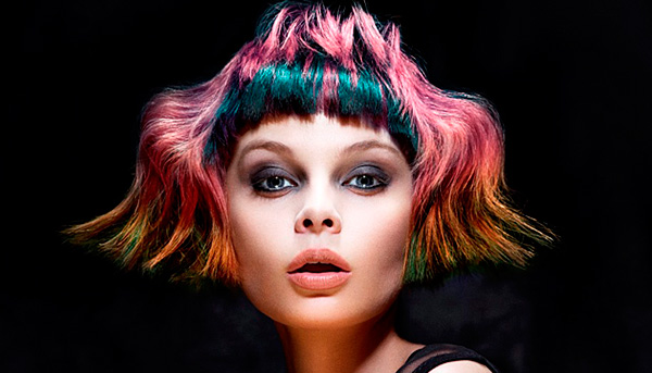 Avant-garde color hair