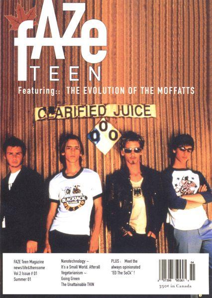 Faze Magazine Issue 04 Cover - The Moffatts