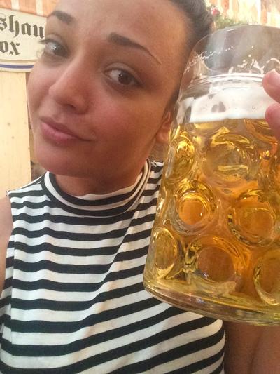 Enjoying beer in Bavaria