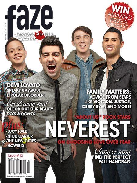 Neverest on cover of Faze Magazine