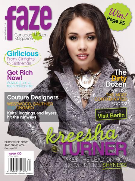 Kreesha Turner on cover of Faze Magazine