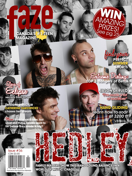 Hedley on cover of Faze Magazine