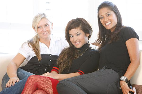 Elise Estrada, Dana Krook, Lorraine Zander