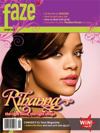 Rihanna on cover of Faze Magazine