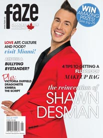 Shawn Desman on cover of Faze Magazine