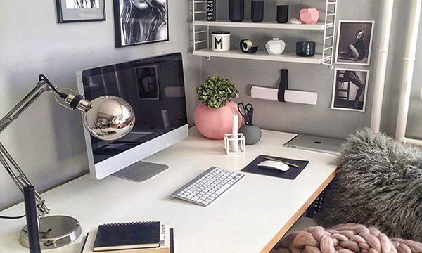 chic home office desk study space