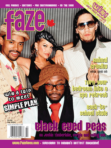 Black Eyed Peas on the cover of Faze Magazine